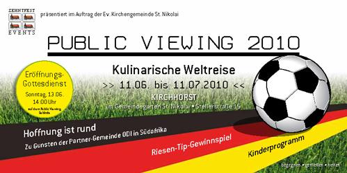 Public Viewing WM 2010 - Flyer