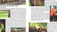 Bei perfekten Wetterbedingungen fand vom 12.-14. Juni das 9. Kirchhorster Zehntfest statt Es konnten dieses Jahr so viele Besucherwie noch nie auf dem Pfarrgelände der St. Nikolai Kirche begriißt werden. Welt iiber 200 Heifer, Mitglieder von 27 Gruppen.